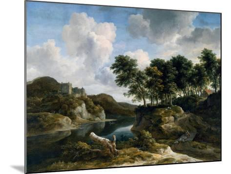 River Landscape with a Castle on a High Cliff, 1670s-Jacob Isaaksz^ Or Isaacksz^ Van Ruisdael-Mounted Giclee Print