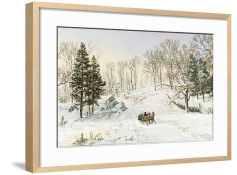 Winter on Ravensdale Road, Hastings-On-Hudson, 1890-Jasper Francis Cropsey-Framed Art Print
