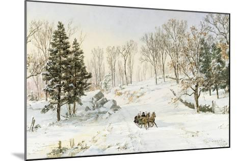 Winter on Ravensdale Road, Hastings-On-Hudson, 1890-Jasper Francis Cropsey-Mounted Giclee Print