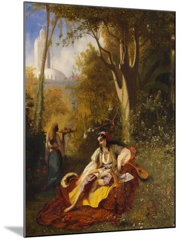 An Algerian Woman and Her Servant in a Garden, 1844-Charles Theodore Frere-Mounted Giclee Print