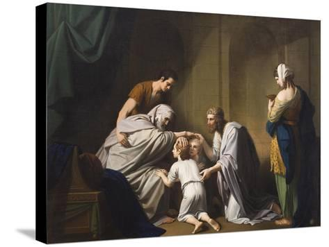 Jacob Blessing Ephraim and Manasseh, 1766-68-Benjamin West-Stretched Canvas Print