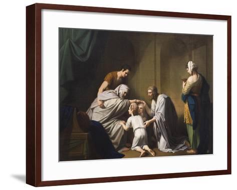 Jacob Blessing Ephraim and Manasseh, 1766-68-Benjamin West-Framed Art Print
