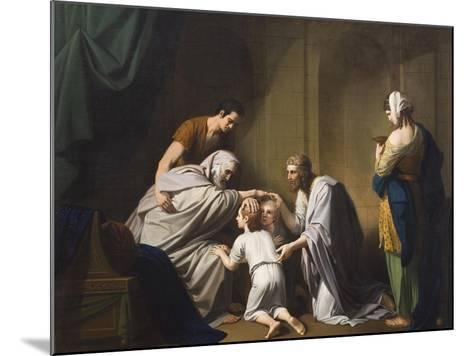 Jacob Blessing Ephraim and Manasseh, 1766-68-Benjamin West-Mounted Giclee Print