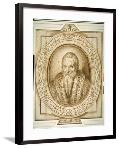 Self Portrait in Old Age, with Simulated Enframement-Bartolomeo Passarotti-Framed Art Print