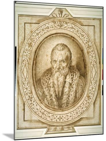 Self Portrait in Old Age, with Simulated Enframement-Bartolomeo Passarotti-Mounted Giclee Print