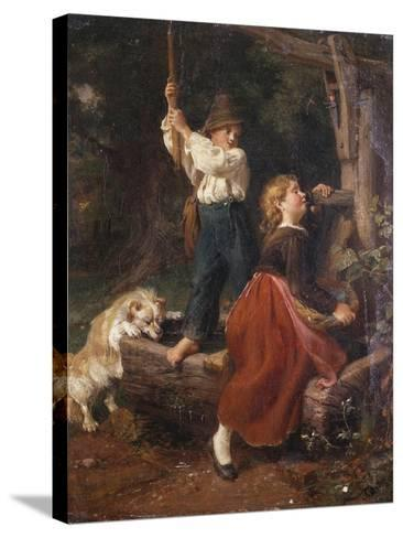 The Water Pump-Felix Schlesinger-Stretched Canvas Print