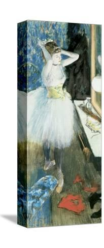 Dancer in Her Dressing Room, C.1879-Edgar Degas-Stretched Canvas Print
