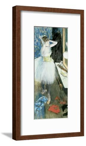 Dancer in Her Dressing Room, C.1879-Edgar Degas-Framed Art Print