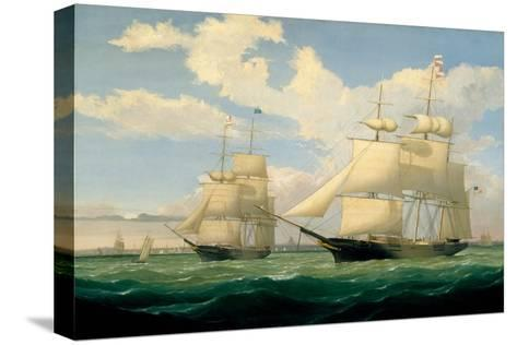 The Ships 'Winged Arrow' and 'Southern Cross' in Boston Harbour, 1853-Fitz Henry Lane-Stretched Canvas Print