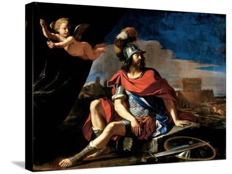 Mars with Cupid, 1649-Guercino (Giovanni Francesco Barbieri)-Stretched Canvas Print