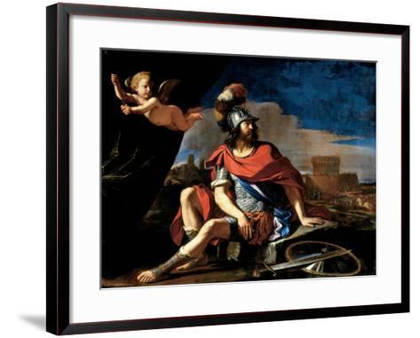 Mars with Cupid, 1649-Guercino (Giovanni Francesco Barbieri)-Framed Art Print