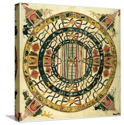Yantra of Jambudvipa, Map of the Universe, C.1725--Stretched Canvas Print