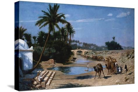 The Caravan-Jean Leon Gerome-Stretched Canvas Print