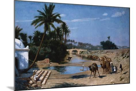 The Caravan-Jean Leon Gerome-Mounted Giclee Print
