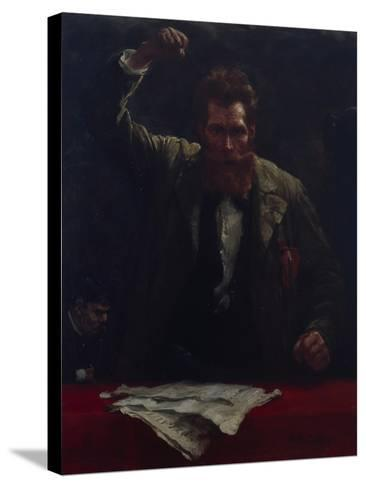 The Socialist, 1885-Robert Koehler-Stretched Canvas Print