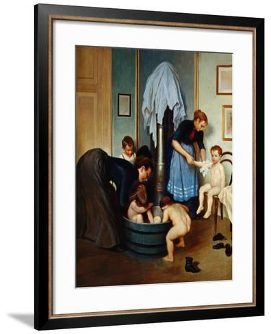 Bath in a Working Household (Children in the Tub), C.1900--Framed Art Print