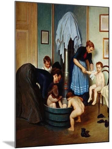 Bath in a Working Household (Children in the Tub), C.1900--Mounted Giclee Print