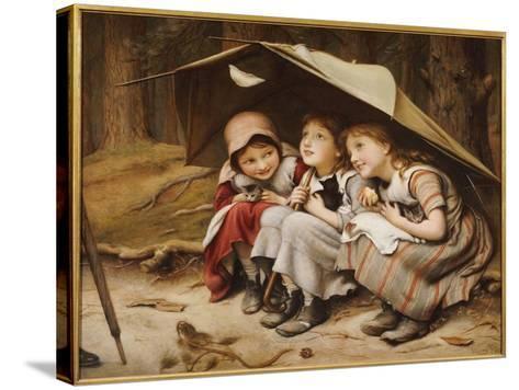 Three Little Kittens, 1883-Joseph Clark-Stretched Canvas Print