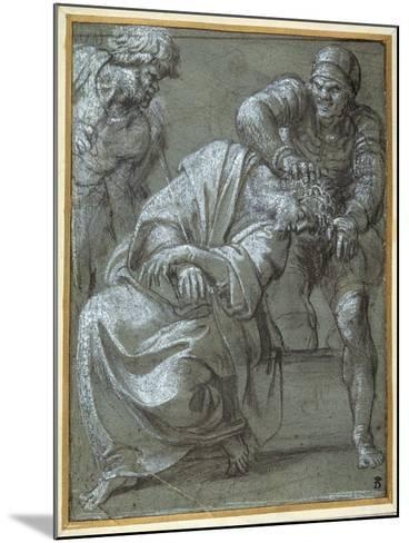 Christ Crowned with Thorns, 1605-06-Annibale Carracci-Mounted Giclee Print