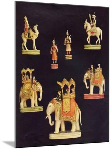Pieces from an Ivory Chess Set Made in Delhi for Begum Samru in C.1790--Mounted Giclee Print