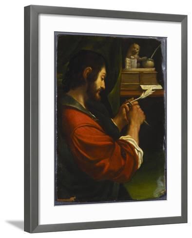 Saint Mark-Guercino (Giovanni Francesco Barbieri)-Framed Art Print
