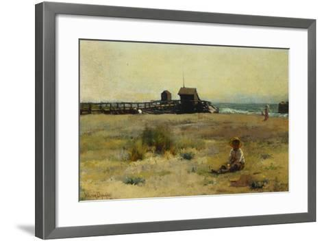 Boy on a Beach, 1884-Walter Frederick Osborne-Framed Art Print