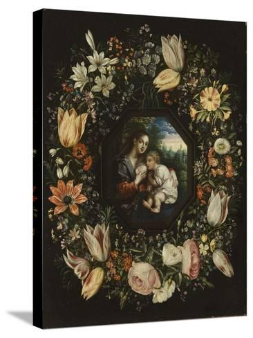 Madonna and Child in a Garland of Flowers, C.1625-Jan Brueghel and Hendrik van Balen-Stretched Canvas Print