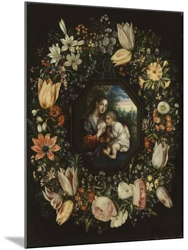 Madonna and Child in a Garland of Flowers, C.1625-Jan Brueghel and Hendrik van Balen-Mounted Giclee Print