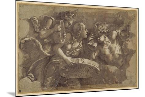 The Vestal Tuccia with the Sieve-Giulio Romano-Mounted Giclee Print