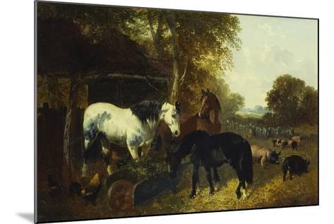 A Farmyard Scene-John Frederick Herring Jnr-Mounted Giclee Print