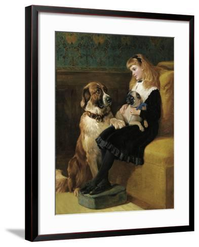 Her Only Playmates, 1870-Heywood Hardy-Framed Art Print