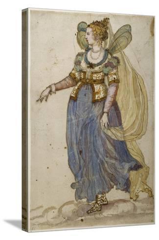 Lady Masquer-Inigo Jones-Stretched Canvas Print