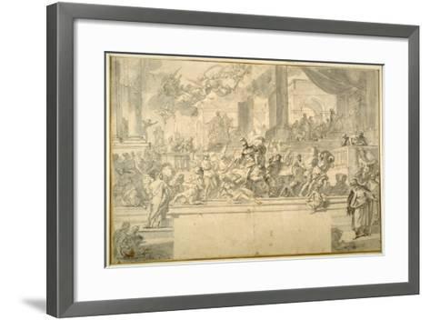 Heliodorus Driven from the Temple-Francesco Solimena-Framed Art Print