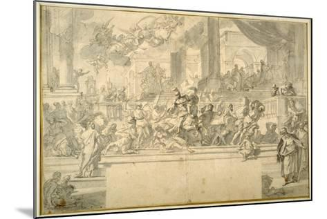 Heliodorus Driven from the Temple-Francesco Solimena-Mounted Giclee Print