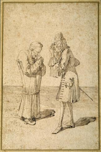 Baron Philip Von Stosch Showing an Antique Gem to Sabbatini-Pier Leone Ghezzi-Stretched Canvas Print
