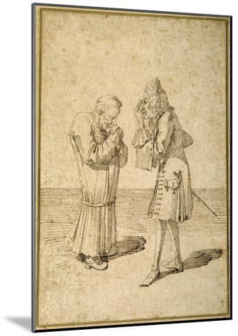 Baron Philip Von Stosch Showing an Antique Gem to Sabbatini-Pier Leone Ghezzi-Mounted Giclee Print