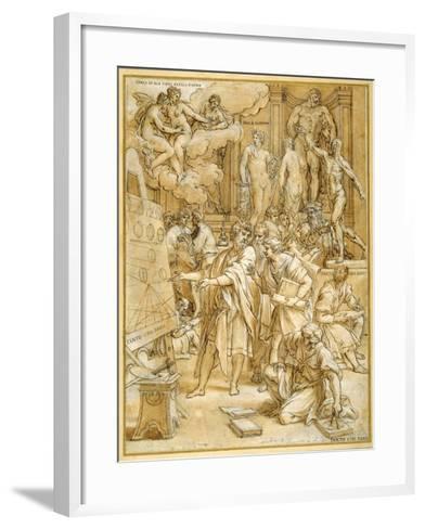 The School of Design-Carlo Maratti-Framed Art Print