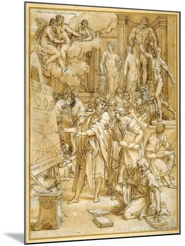 The School of Design-Carlo Maratti-Mounted Giclee Print