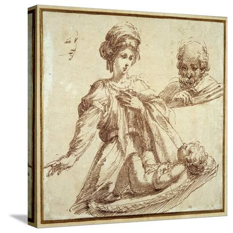 The Holy Family-Domenico Campagnola-Stretched Canvas Print