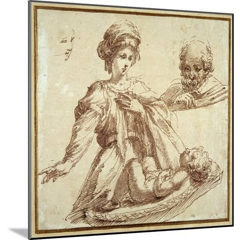 The Holy Family-Domenico Campagnola-Mounted Giclee Print