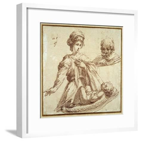 The Holy Family-Domenico Campagnola-Framed Art Print
