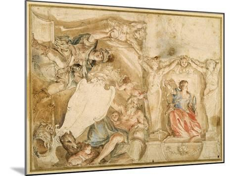 Allegorical Decoration for One Corner of a Coved Ceiling-Giovanni Francesco Romanelli-Mounted Giclee Print