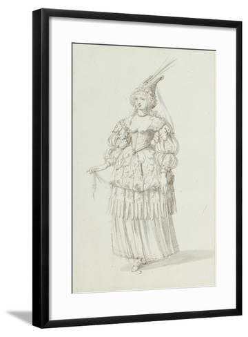 Chloris: Alternative Sketch for Henrietta Maria, C.1631-Inigo Jones-Framed Art Print