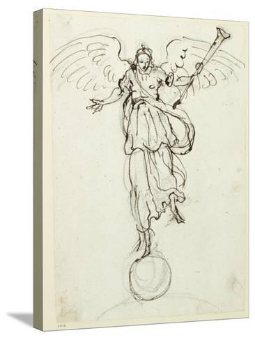Fame, Preliminary Sketch, C.1631-Inigo Jones-Stretched Canvas Print