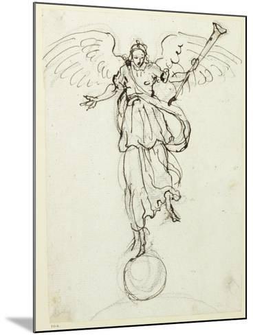 Fame, Preliminary Sketch, C.1631-Inigo Jones-Mounted Giclee Print