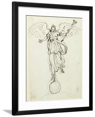 Fame, Preliminary Sketch, C.1631-Inigo Jones-Framed Art Print