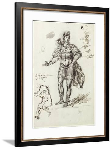 Albanactus, Preliminary Sketch-Inigo Jones-Framed Art Print