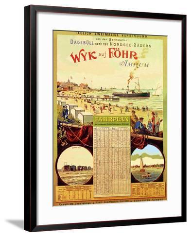 Wyk Auf Fohr', Poster Advertising the Wyk Steam Shipping Company, 1897-German School-Framed Art Print
