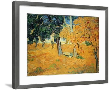 The Park at St. Paul's Hospital, St. Remy, 1889-Vincent van Gogh-Framed Art Print