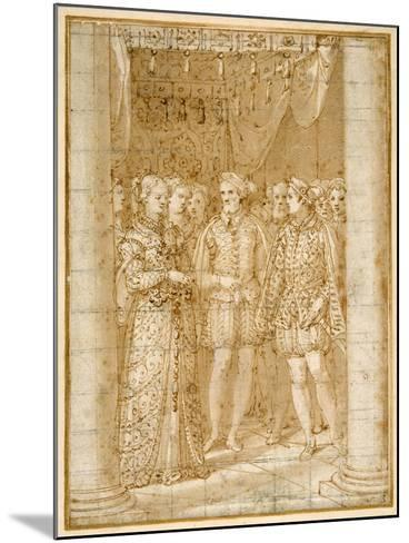 Betrothal of Ottaviano Farnese to Margaret of Parma, in the Presence of Henri II of France-Federico Zuccaro-Mounted Giclee Print